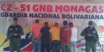 GNB desmantela banda y captura a traficantes de material estratégico en el estado Monagas