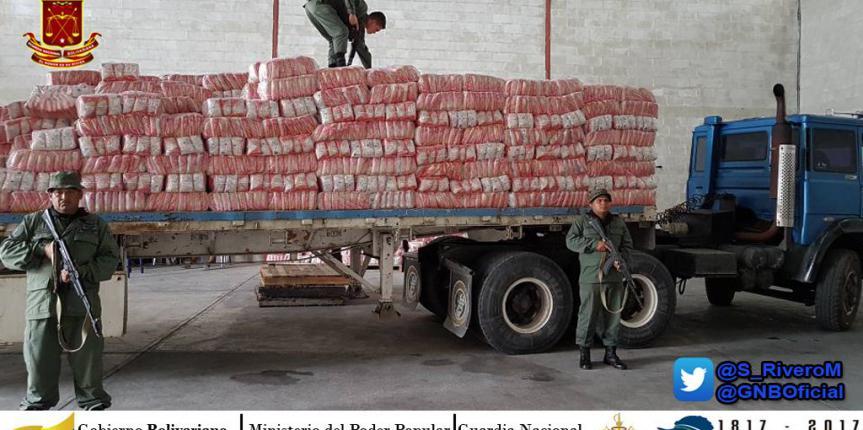 GNB Portuguesa lograron recuperar gandola que pretendía ser saqueada con Mil 200 fardos de Arroz