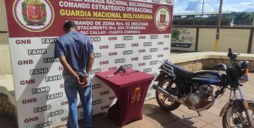 GNB aprehendió a un ciudadano por intento de robo en El Callao