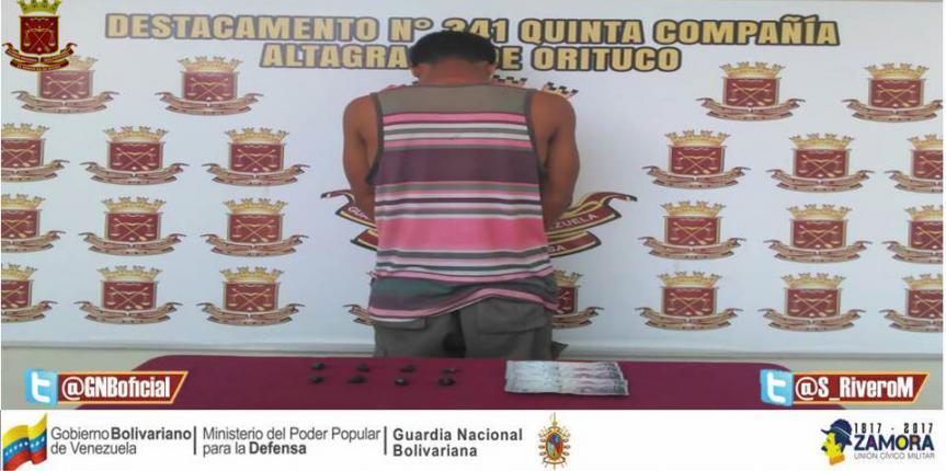 Capturado microtraficante en el estado Guárico