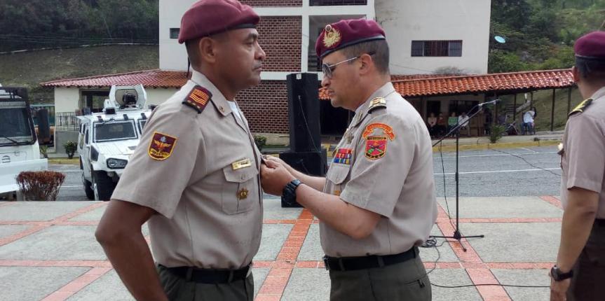 GNB Mérida reconoció al personal militar que pasan a situación de Reserva Activa