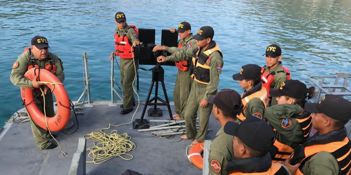 Comando de Vigilancia Costera realizó ejercicio de adiestramiento y apresto naval en el estado Anzoátegui