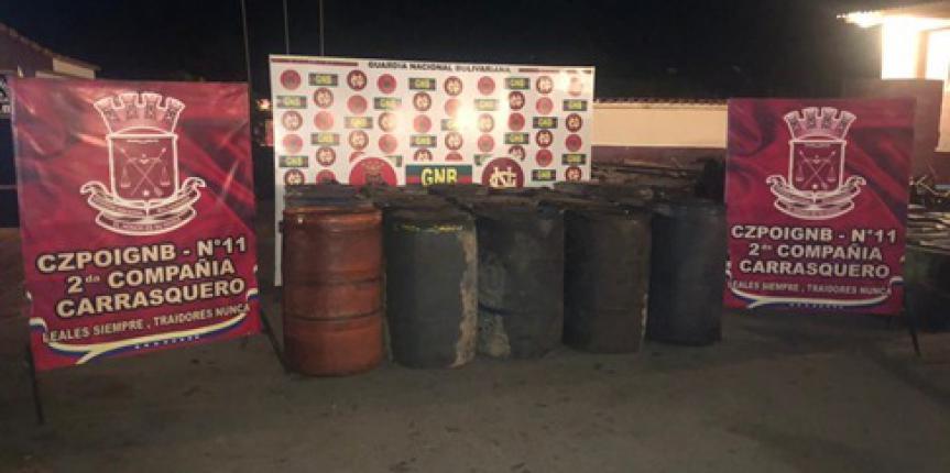 GNB Zulia retuvo más de 8 mil litros de combustible tipo gasoil
