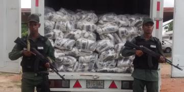 GNB Cojedes retuvo 7  Toneladas de harina de maíz y arroz