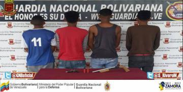 GNB Falcón capturó seis ciudadanos en diferentes procedimientos