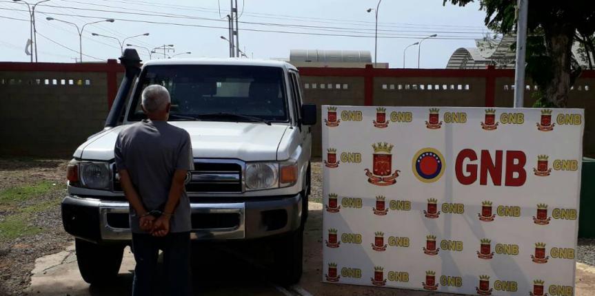 GNB Falcón detuvo a ciudadano y recuperó vehículo solicitado