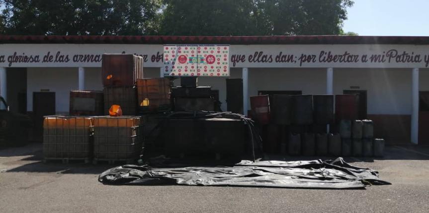 Más de 12 mil litros de combustible ha incautado la GNB en Táchira