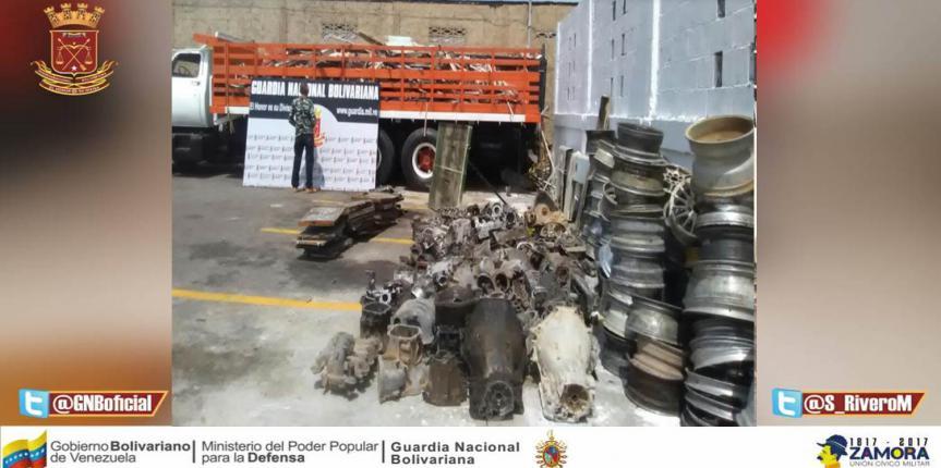 GNB Falcón detuvo tres ciudadanos y retuvo 11 toneladas de material no ferroso