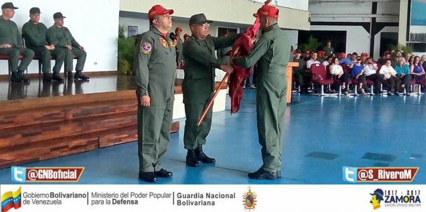 Comando Aéreo de la GNB cuenta con nuevo Comandante