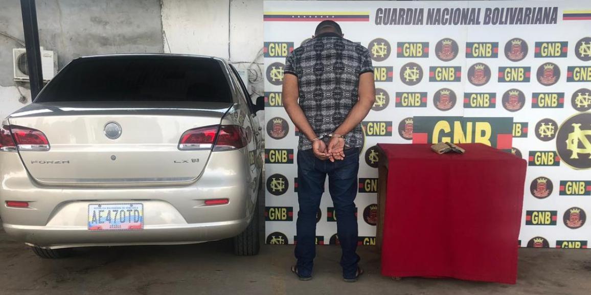 GNB capturó a ciudadano con droga en el estado Bolívar