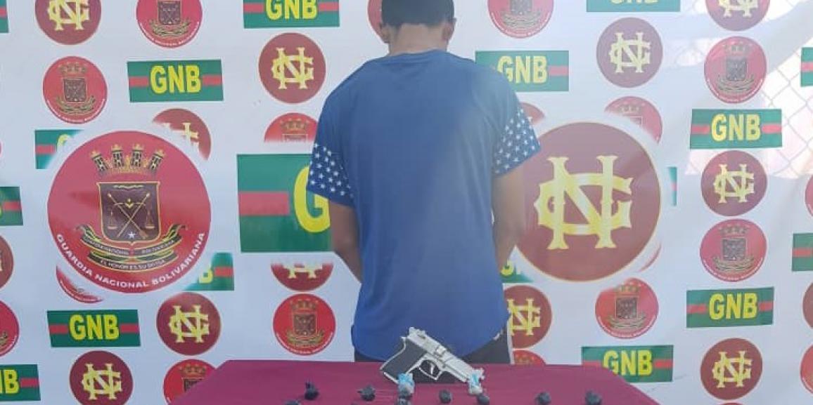 Comando de Vigilancia Costera GNB detuvo un ciudadano  con arma