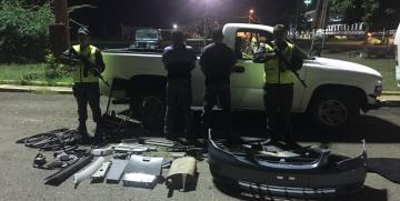 GNB Anzoátegui desmanteló banda dedicada al robo y desvalijamiento de vehículos