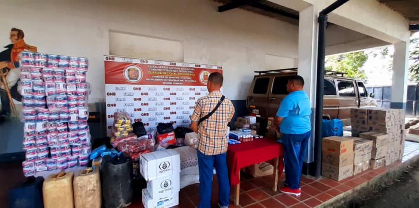 GNB aprehendió a dos personas por contrabando en Apure