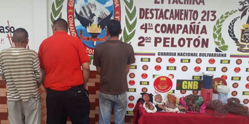 Retenidos 200 kilos de cobre en diferentes procedimientos en el estado Táchira