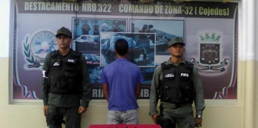 GNB detuvo un ciudadano por micro tráfico de drogas en Cojedes