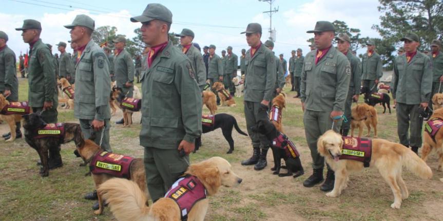64 Guías Caninos fueron egresados del Centro de Entrenamiento Antidrogas de la GNB