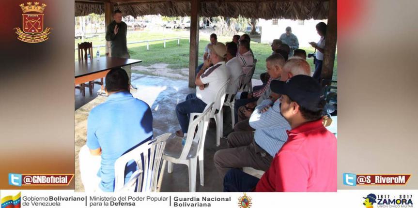 Comando de Zona de la GNB en Monagas realizó reunión con Agroproductores