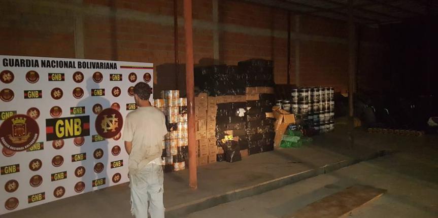 15 toneladas en víveres fueron decomisadas en Ureña por la GNB