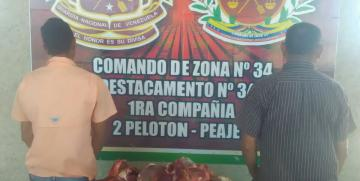GNB Guárico captura a dúo con carne de res de dudosa procedencia