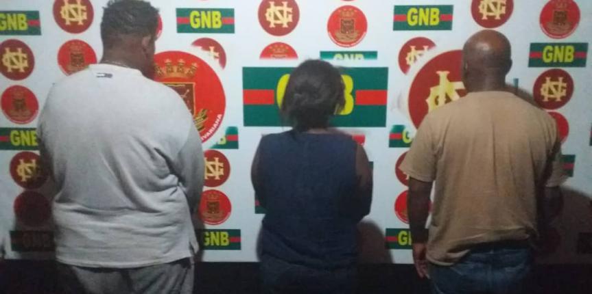 GNB capturó a varios ciudadanos en Maracaibo por llevar drogas
