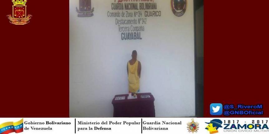 D342 arrestó a microtraficamente en Guárico