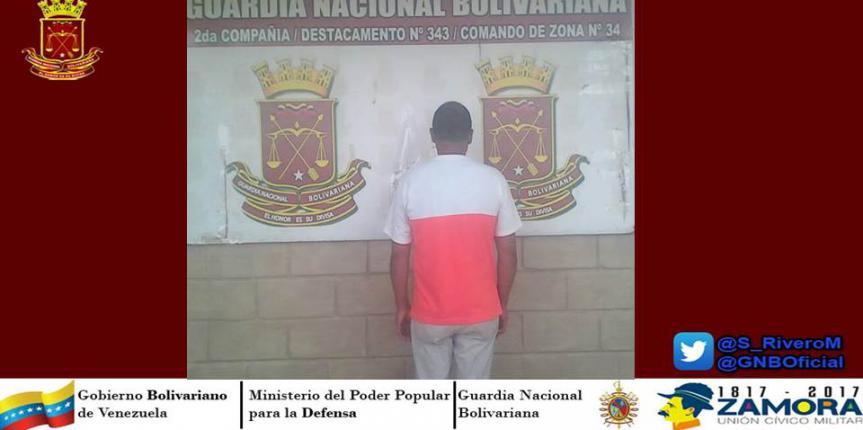 GNB Guárico capturó a prófugo de la justicia