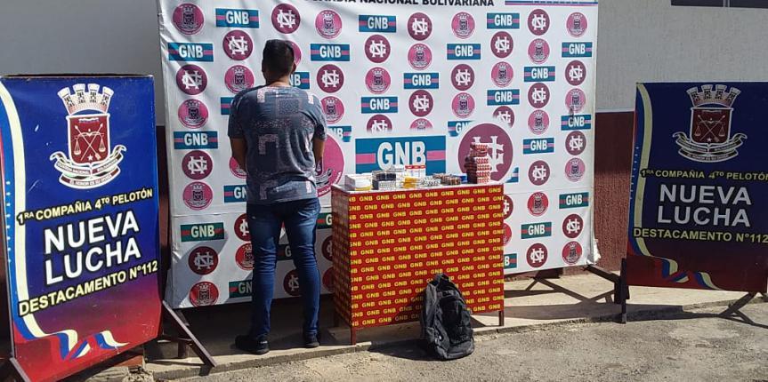 GNB Zulia detuvo a un ciudadano por contrabando de medicamentos