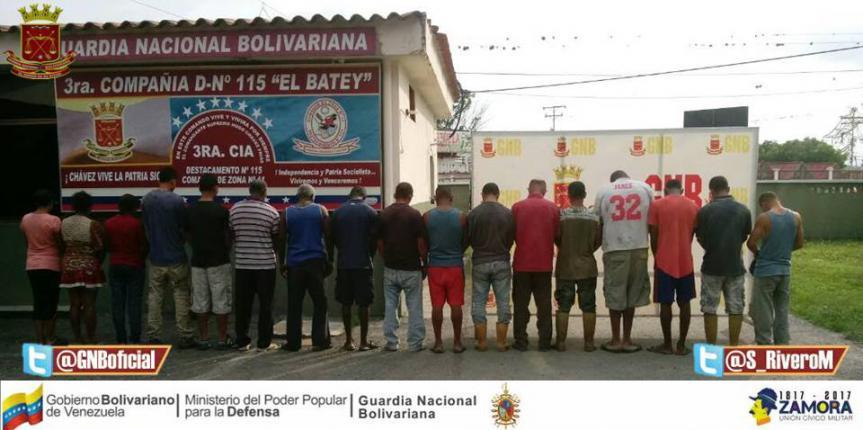 Detenidas por la GNB 20 personas por intento de invasión en un fundo del Sur del Lago