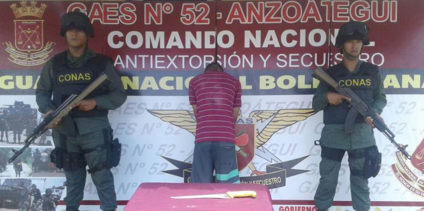 GAES 52 capturó a ciudadano por intento de homicidio en Barcelona