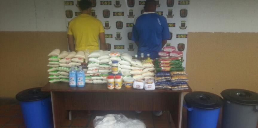 Tres detenidos tras incautar más de 7 toneladas de arroz en local en Puerto La Cruz