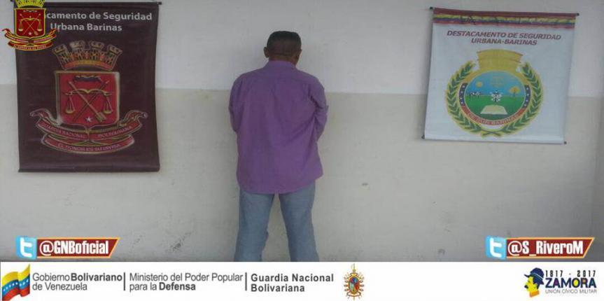 GNB Barinas capturó a dos ciudadanos por diversos delitos en la entidad
