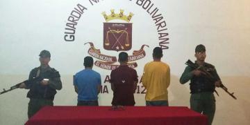GNB Monagas capturó a tres ciudadanos por porte ilícito de arma de fuego