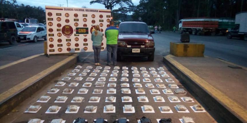 Duro golpe al narcotráfico GNB incautó 85 panelas de marihuana