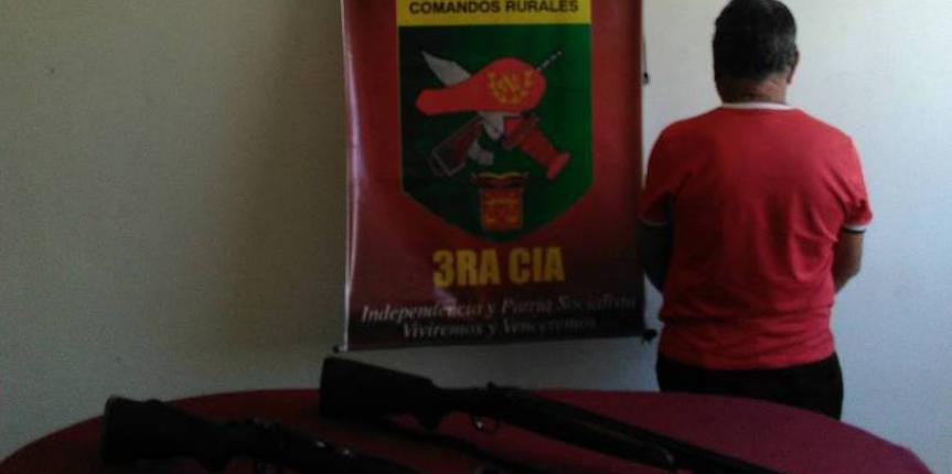 GNB incautó siete armas de fuego en Anzoátegui