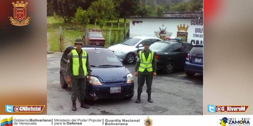 GNB recupera vehículo robado en Tucaní