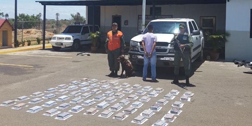 GNB Guárico logró interceptar cargamento de 74 kilos de cocaína