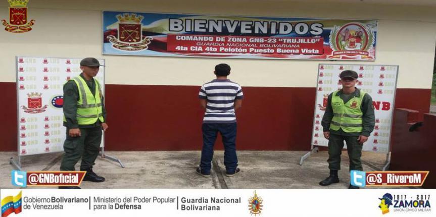 GNB capturó a ciudadano solicitado en el estado Trujillo