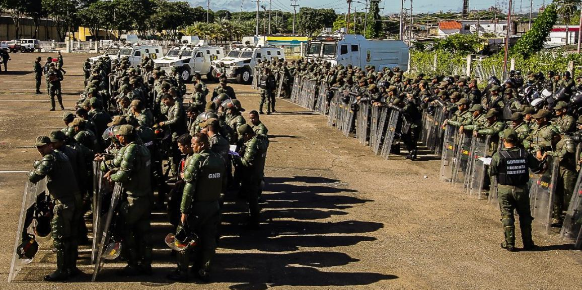 GNB realizó ejercicios militares para garantizar la seguridad en Bolívar