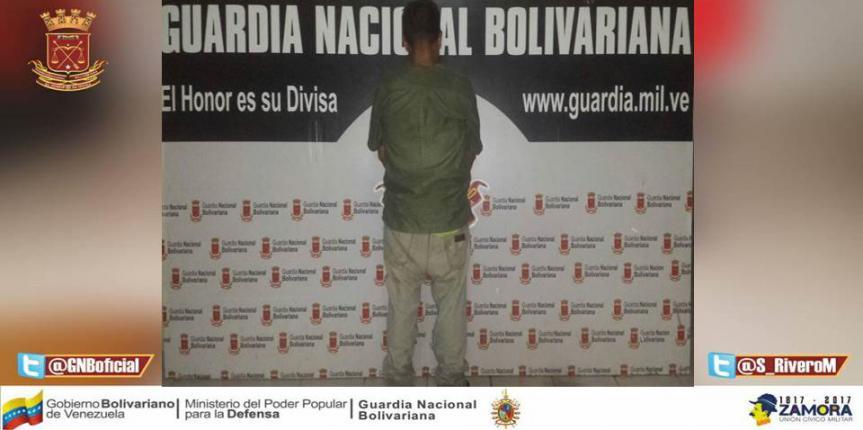 GNB capturó a dos ciudadanos por hurto y resistencia a la autoridad en Punto Fijo