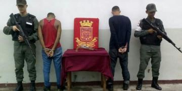 """GNB captura a dos integrantes de la Banda """"Los Infiltrados"""" en el estado Monagas"""