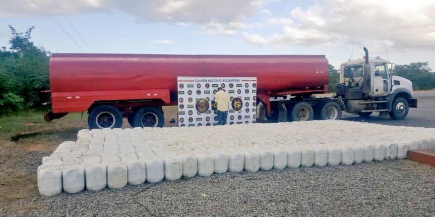 GNB Falcón incautó 10.780 litros de químico esencial para la elaboración de droga