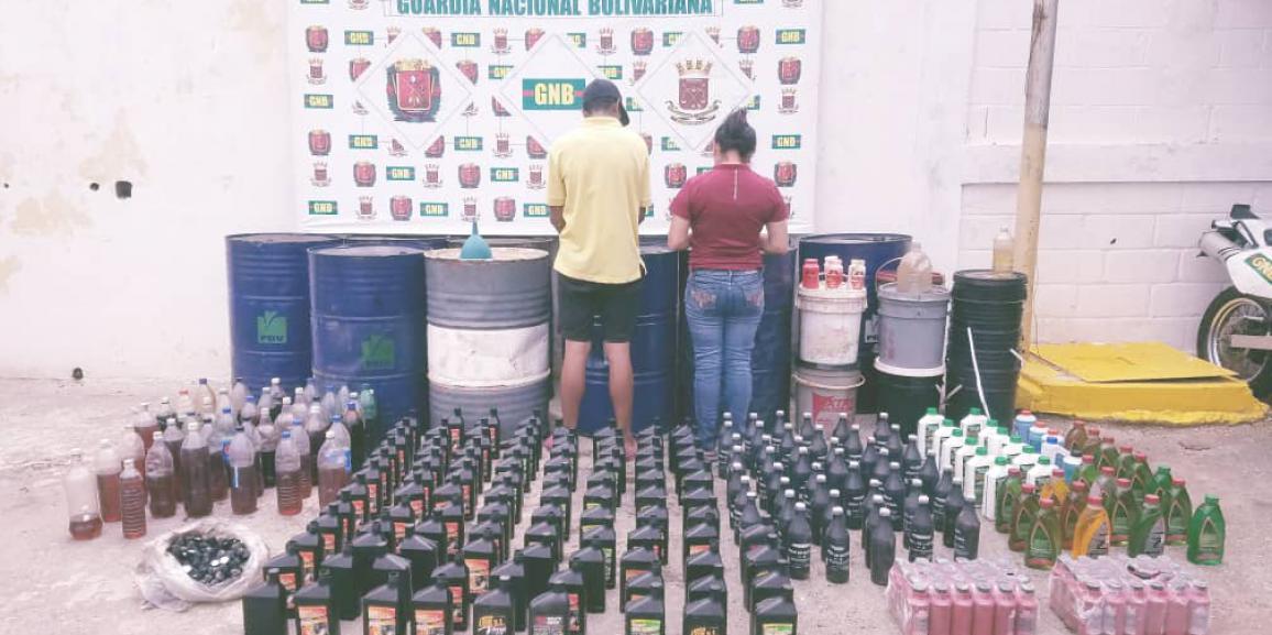 GNB Falcón capturó dos personas por alterar y falsificar lubricantes