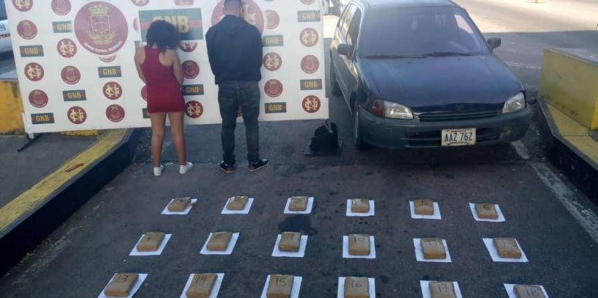 Tres detenidos por tráfico de estupefacientes durante el fin  de semana en Táchira