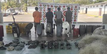 Comando de Vigilancia Costera desmantela banda de delincuentes que operaban en el lago de Maracaibo y recupera partes de motores fuera de borda robados