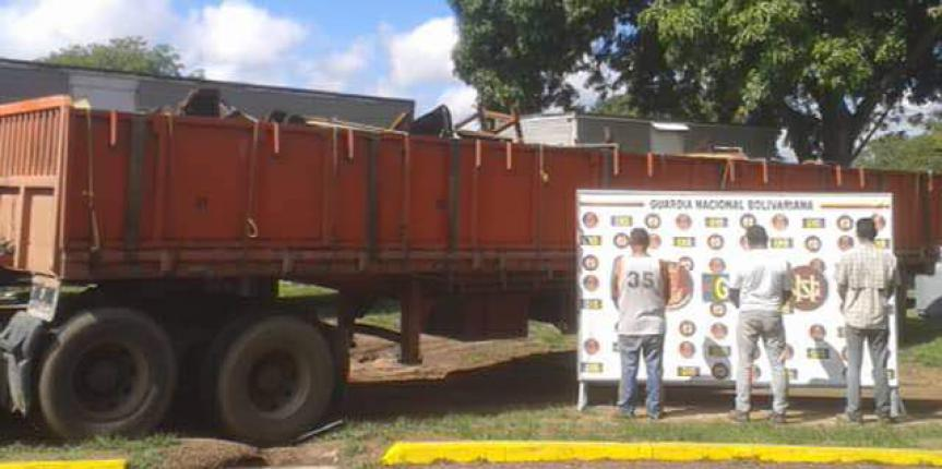 GNB en Anaco incautó 25 toneladas de chatarra ferrosa