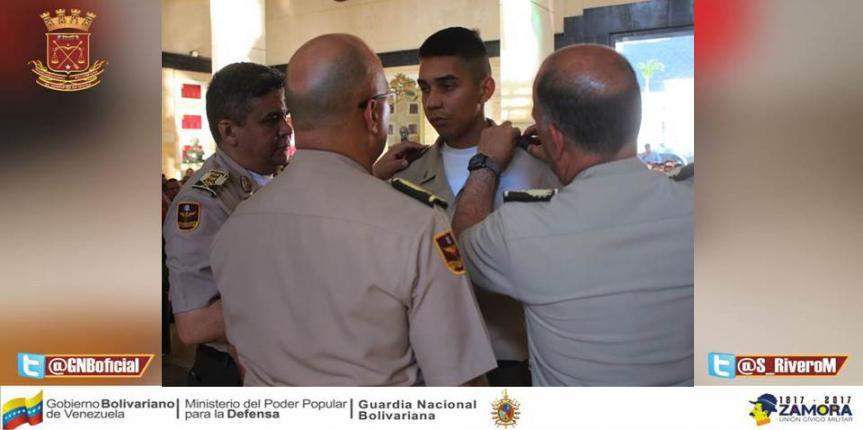 Nueve efectivos de Tropa Profesional fueron ascendidos y condecorados por el Alto Mando de la GNB