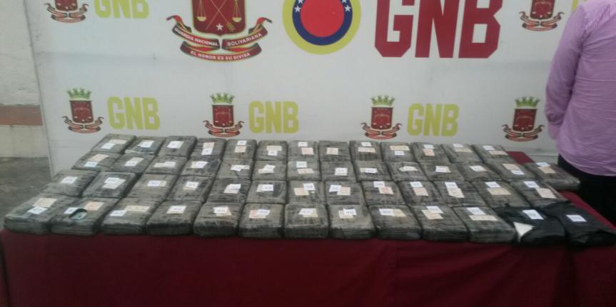 GNB realiza nueva incautación de 59 kilos de droga al Sur del Lago de Maracaibo