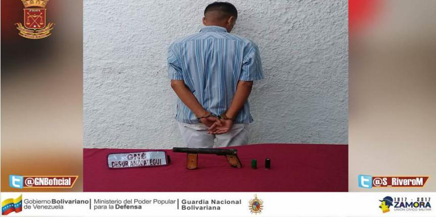 GNB frustró robo e incautó cuatro armas en zona norte de Anzoátegui