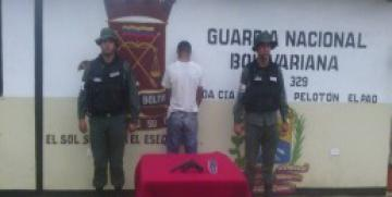 GNB decomisa arma de fuego en el estado Cojedes