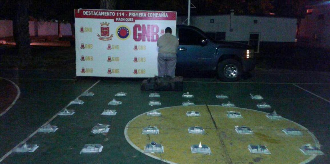 Nuevo cargamento de droga con 34 panelas es incautado por la GNB en Machiques de Perijá